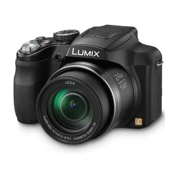 Panasonic Lumix DMC-FZ60 16.1 MP Digital Camera with 24x Optical Zoom - Black