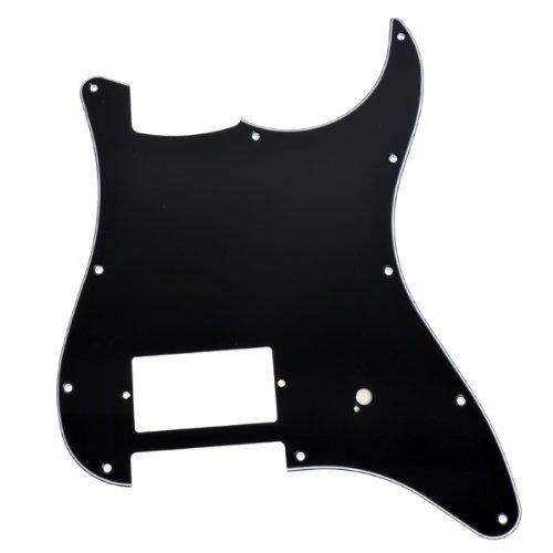 New Strat Guitar Pickguard, One Humbucker Black, Fits for Fender (One Humbucker)