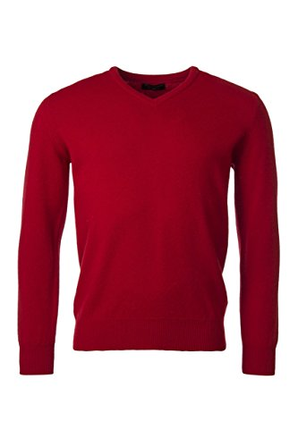Great and British Knitwear Men's 100% Lambswool Plain V Neck Sweater. Made in (Plain Lambswool)