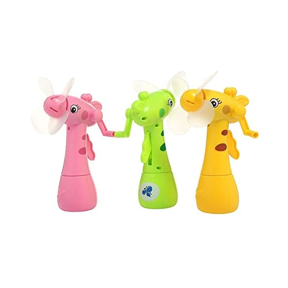 Bhajan Portable Handheld Small Fan Travel Outdoor Cute Cartoon Carrot Portable Fan Mini Fan Without Battery for Kids Toy with Water Spray.