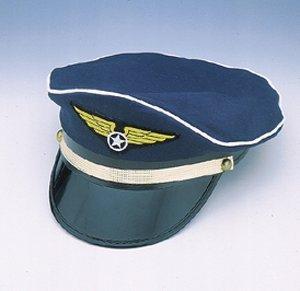 Airline Hat (Jacobson Hat Company Men's Pilot Cap, Navy, Adult Adjustable)