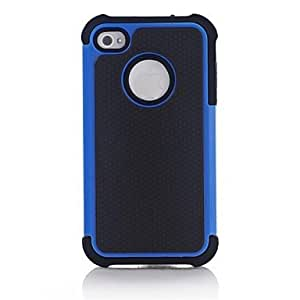 GJY Hybrid Rugged Matte Rubber Hard Cover Case Full Body for iPhone 4/4S , Black