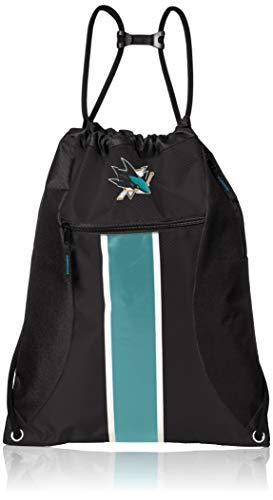 NHL San Jose sharksbig Stripe cierre cordón mochila, talla única, San Jose Sharks