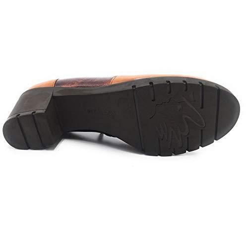 marrón Combinado Subido 3820 57455 Pitillos Pitillos Zapato qgpRnv