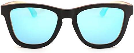 BXGZXYQ Gafas de Sol de Madera Retro para Hombres/Mujeres, Gafas ...