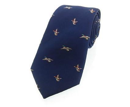 Soprano corbata de seda corbata de seda azul de lujo con Country ...