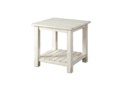 Table Door Antique - Martin Svensson Home 890233 Barn Door End Table, Antique White