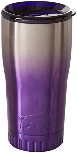 Silver Buffalo NL111495 Ombrà Double Walled Stainless Steel Travel Tumbler, 20-Ounces, Purple (Tumblers Purple)