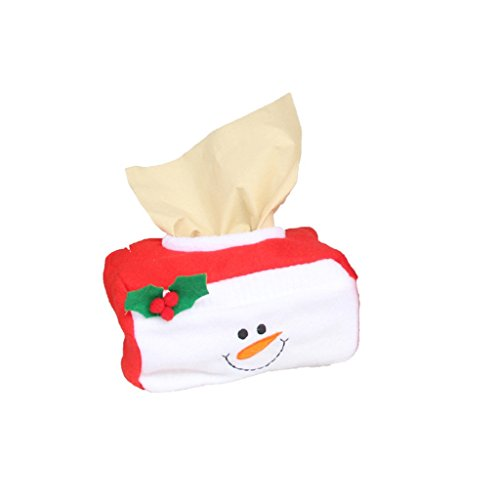 LUNIWEI Merry Christmas Home Party Santa Claus Tissue Box Cover Bags