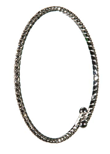Funky Junque BR-1099-SS-1601 Bracelet - Single Strand - Smoky Quartz/Silver Plated