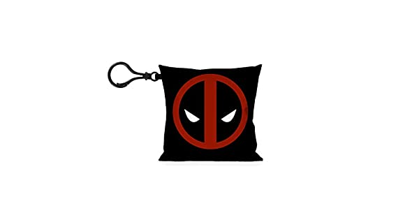 Amazon.com: Marvel almohada Llavero – Deadpool Logo Negro ...