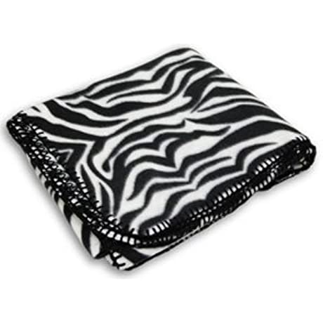 50X60 ZEBRA ANIMAL PRINTED FLEECE BLANKET Zebra Case Of 24