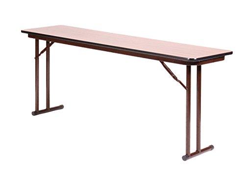 Folding Seminar Table (Correll ST2460PX-06 High Pressure Laminate Folding Seminar Table with Off-Set Leg for Maximum Leg Room, Medium Oak, 24