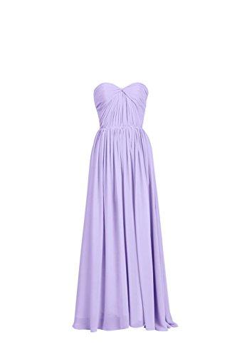YiYaDawn Langes Brautjungfernkleid Cocktailkleid Festkleid für Damen Lavendel zfsNFUJ