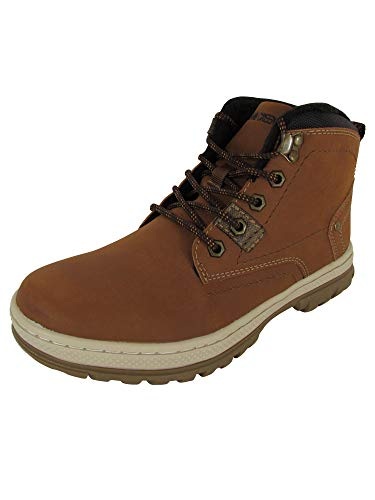 Highland Creek Mens Fleece Lined Lace Up Boot Shoes, Brown/Dark Grey, US -