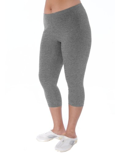 Danskin Women's Plus Size Cotton Capri Legging, Heather Gray Concrete, 2x (Danskin Plus Size Yoga Pants compare prices)