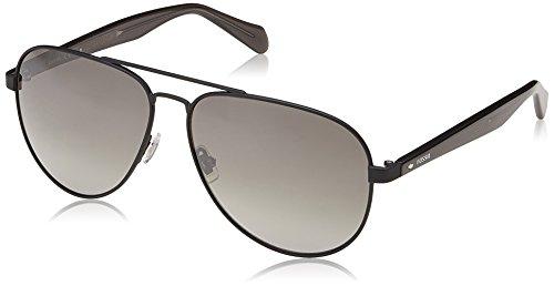 Fossil Men's Fos 2061/s Aviator Sunglasses, Black, 60 mm