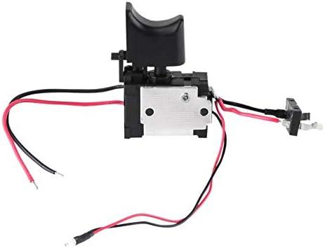 Andifany 7.2 V - 24 V Batería De Litio Interruptor De Taladro Sin Cable Interruptor De Control De Velocidad Con Luz Peque?a