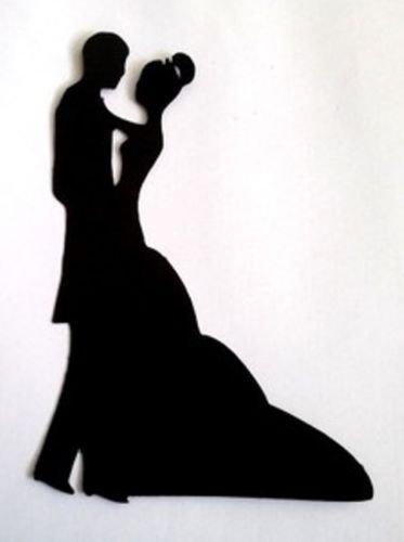 5 x Bride & Groom Wedding #4 Silhouette Die Cuts Shapes Black Card RJK Crafts