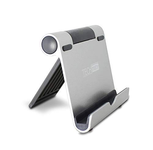 iPad Stand TechMatte Multi-Angle Aluminum Holder for Tablets, E-Readers and Smartphones - Mini Stand