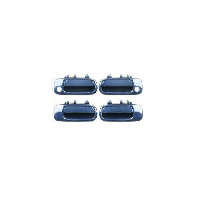 Motorking 6922033011C1 92 96 Toyota Camry Blue 8J6 Replacement Set 4 Outside Door Handles 92 93 94 95 96
