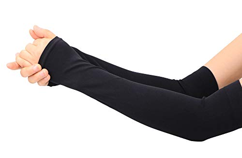(TAUT Outdoor Sports UV Sun Protection Cooling Forearm Sleeves, Black)