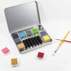 Azeeda 170mm x 130mm Glückliche Quallen Blechdose Aufbewahrungsbox TT00049960