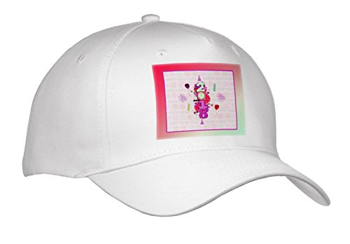 Beverly Turner New Years Design - 2018, Fireworks, Clock, Hats, Balloons, dollies, New Year, Coral - Caps - Adult Baseball Cap - Visor Dolly
