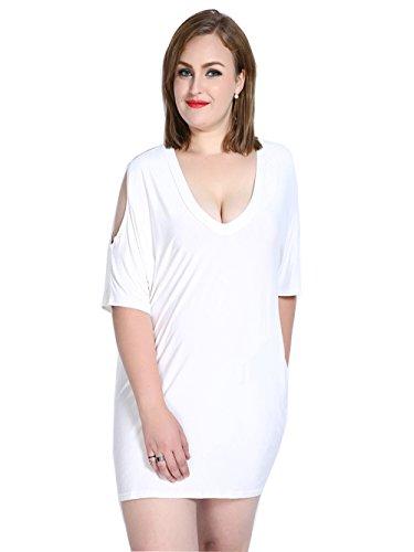 Jollychic - Vestido - camisa - para mujer blanco