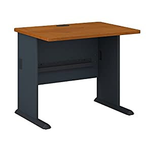 Bush Business Furniture Series A 36W Desk in Natural Cherry and Slate