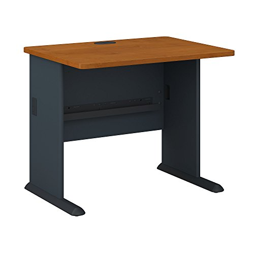 Advantage Desk Office (Bush Business Furniture Series A 36W Desk in Natural Cherry and Slate)