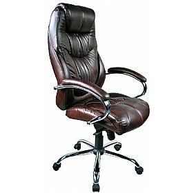 genoa brown leather executive office chair amazon co uk office