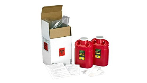SUPPLY-119 2 QTY TWO GALLON SHARPS DISPOSAL (Mail Away Sharps Container)