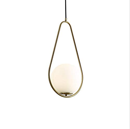 Light Novello Sconce 1 (Modern LED Pendant Light Europe Glass Ball Indoor Lighting Novel Hanging Lamp Restaurant Bedroom Bar Shop Vintgae Light Fixture)