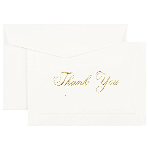 JAM Blank Card Sets - Thank You Cards - Bright White Card...
