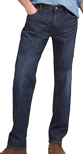 GAP Denim Mens Straight fit Jeans mid Rise Jeans, deep Indigo ash (34x32) - Gap Straight Fit Jeans