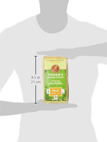 Tieman's Fusion Coffee, Low Acid Decaf, Semi-Dark Roast (Ground) 10-Ounce bag