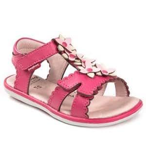 pediped Sidra Flex Dress Sandal (Toddler/Little Kid),Fuchsia,25 EU (8.5 M US Toddler)