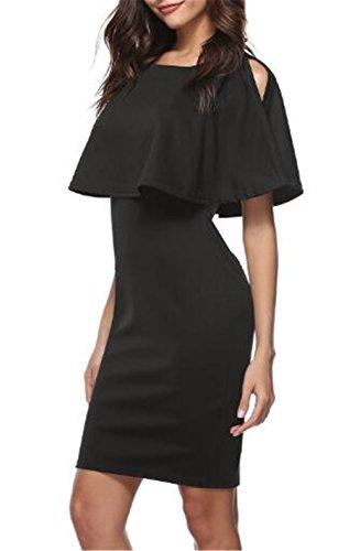 99f199de19a7 Bonitas Estive Vestito Elegante Abito Abiti Puro Donna Senza Colore Black  Mini Da Besthoo Spalline Vestiti ...