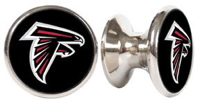 (Atlanta Falcons NFL Stainless Steel Cabinet Knobs / Drawer Pulls (2-pack) )