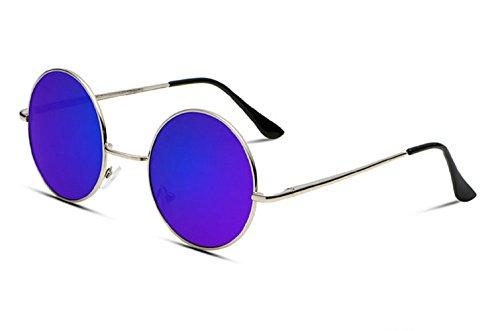 de Jhon Púrpura Unisex Lennon Redondas sol Uv400 Polarizadas Hombres Gafas qgq5Iw7P