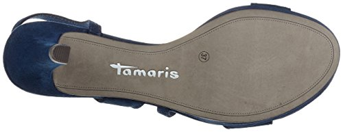 Tamaris 28318, Sandali con Tacco Donna, Blu (Navy 805), 37 EU