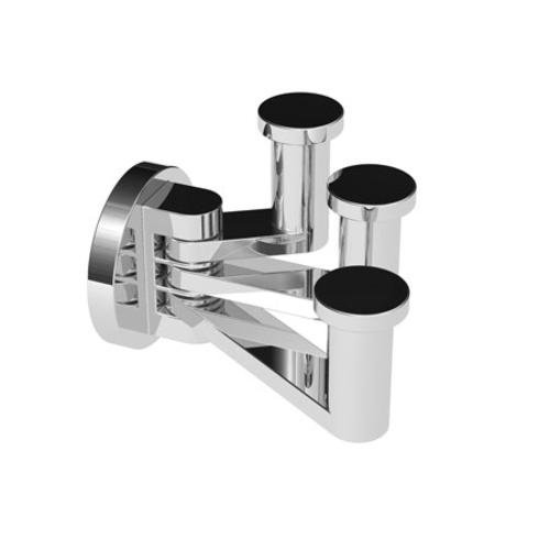 Ginger 4610T/PN Kubic Triple Robe Hook 4610T, Polished Nickel by Ginger