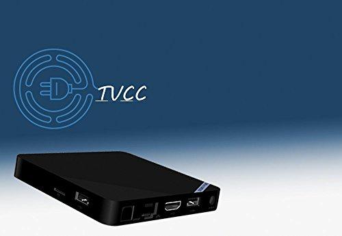 TVCC Mini M8S II with IR Android Powered Mini Computer Amlogic S905X Cortex-A53 Quad Core 2GB/16GB 4K HD 100Mbps LAN 2.4G WIFI