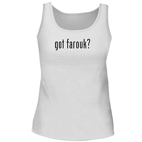 BH Cool Designs got Farouk? - Cute Women's Graphic Tank Top, White, Medium