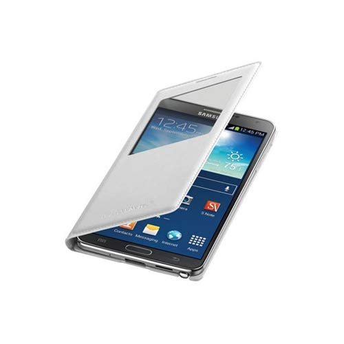 Samsung Galaxy Note 3 Case S View Flip Cover Folio (White)