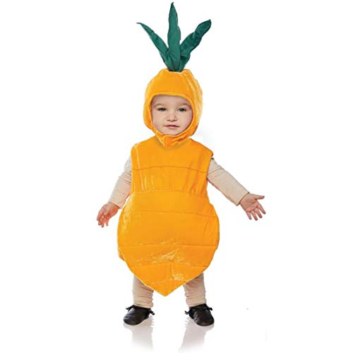 Underwraps Kid's Toddler's Plush Carrot Belly Babies Costume Childrens Costume, Orange, Medium ()