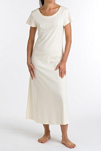 P.Jamas Butterknit Cap Sleeved Long Gown 375660 Pink - XS