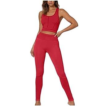 SUDADY - Chándal Deportivo para Mujer, 2 Piezas, Top + Pantalones ...
