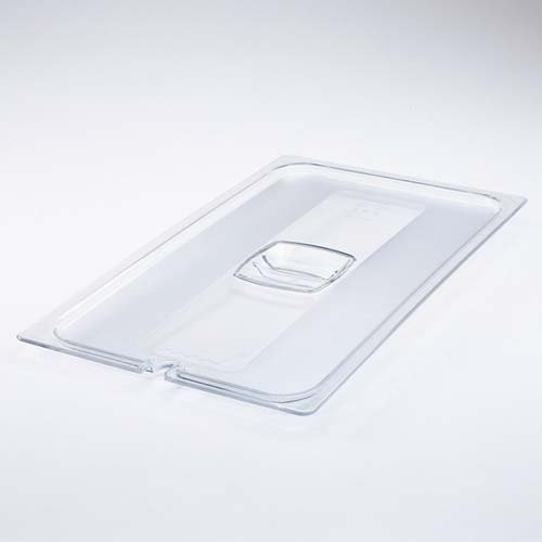 - Rubbermaid Commercial Cold Food Pan Cover with Peg Hole, 1/2 Size, Clear, FG128P23CLR